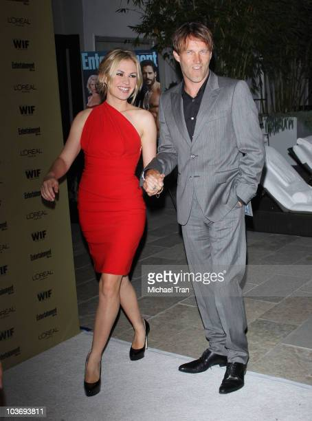 Anna Paquin and Stephen Moyer arrive at the Entertainment Weekly and Women In Film preEMMY party held at The Sunset Marquis Hotel on August 27 2010...