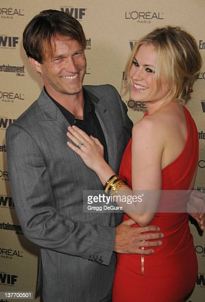 Anna Paquin and Stephen Moyer arrive at the Entertainment Weekly and Women In Film PreEmmy Party at the 'Restaurant' at the Sunset Marquis Hotel on...