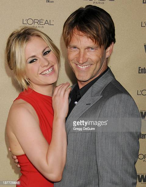 """Anna Paquin and Stephen Moyer arrive at the Entertainment Weekly and Women In Film Pre-Emmy Party at the """"Restaurant"""" at the Sunset Marquis Hotel on..."""