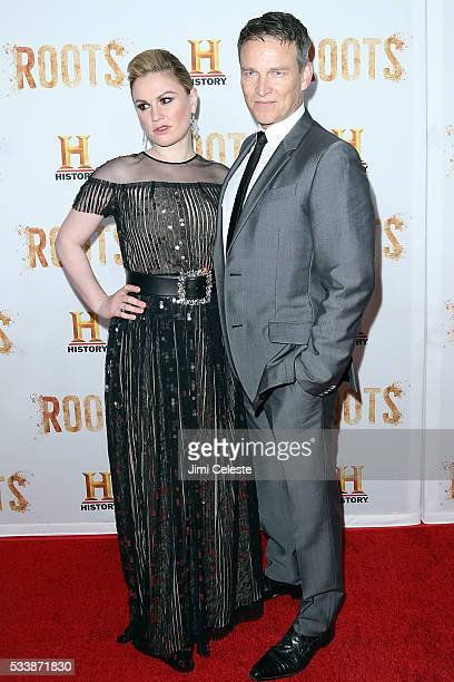 Anna Paquin and Stephen Moyer attend as HISTORY presents night one of the epic event series 'Roots' at Alice Tully Hall on May 23 2016 in New York...