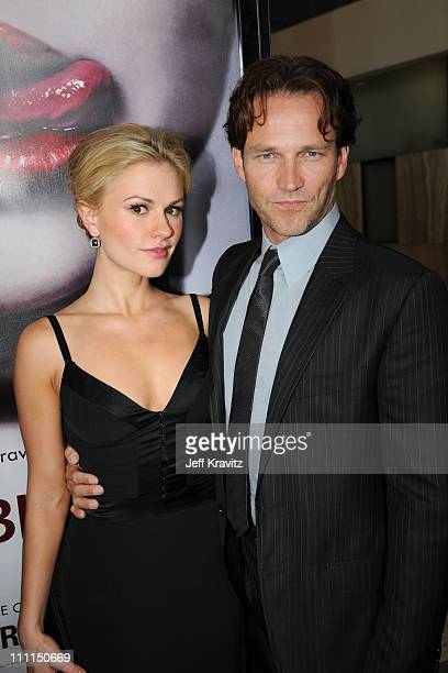 Anna Paquin and Stephen Moyer attend HBO's premiere of 'True Blood' on September 4 2008 in Hollywood California