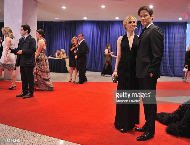Anna Paquin and Stephen Moyer attend the 98th Annual White House Correspondents' Association Dinner at the Washington Hilton on April 28 2012 in...