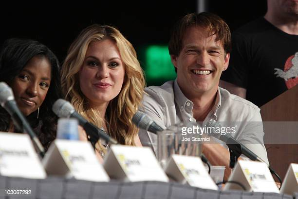 Anna Paquin and Stephen Moyer attend the True Blood panel on Day 2 of 2010 Comic-Con International at San Diego Convention Center on July 23, 2010 in...