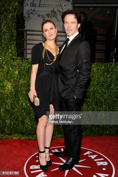 Anna Paquin and Stephen Moyer attend VANITY FAIR Oscar Party ARRIVALS at Sunset Tower Hotel on March 7 2010 in West Hollywood California