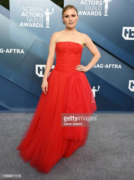 Anna Paquin arrives at the 26th Annual Screen ActorsGuild Awards at The Shrine Auditorium on January 19 2020 in Los Angeles California