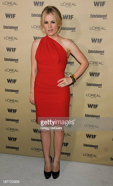 Anna Paquin arrives at the Entertainment Weekly and Women In Film PreEmmy Party at the 'Restaurant' at the Sunset Marquis Hotel on August 27 2010 in...