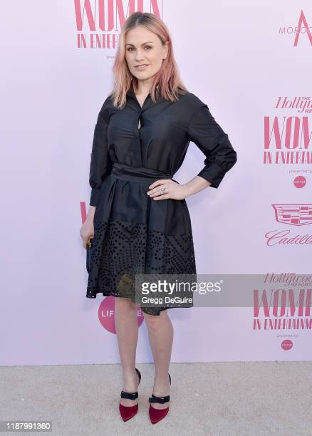 Anna Paquin arrives at The Hollywood Reporter's Annual Women in Entertainment Breakfast Gala at Milk Studios on December 11 2019 in Hollywood...