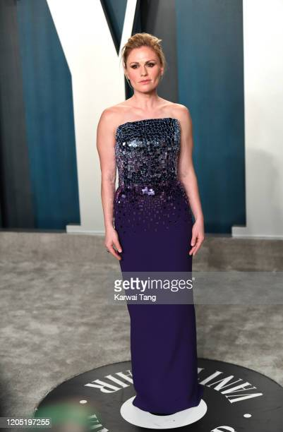 Anna Paquin arriving for the 2020 Vanity Fair Oscar Party Hosted By Radhika Jones at the Wallis Annenberg Center for the Performing Arts on February...