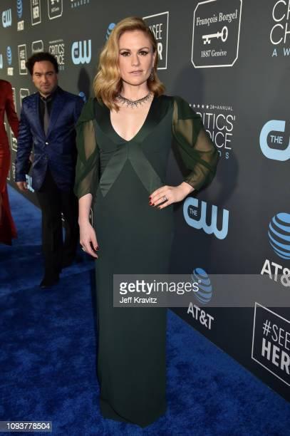 Anna Paquin at The 24th Annual Critics' Choice Awards at Barker Hangar on January 13 2019 in Santa Monica California