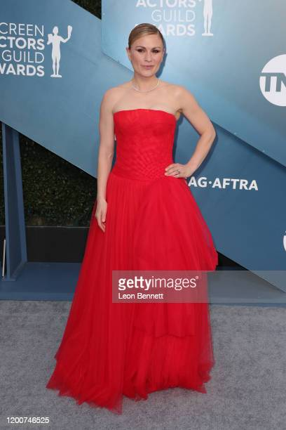 Anna Paquin attends 26th Annual Screen Actors Guild Awards at The Shrine Auditorium on January 19 2020 in Los Angeles California