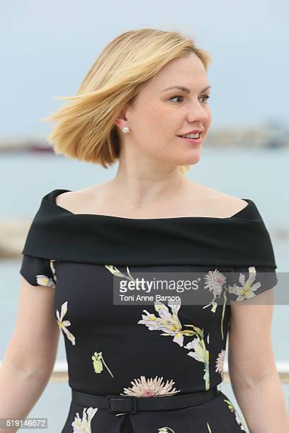 Anna Paquin attends Roots Photocall as part of MIPTV 2016 on April 4 2016 in Cannes France