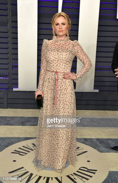 Anna Paquin attends the 2019 Vanity Fair Oscar Party hosted by Radhika Jones at Wallis Annenberg Center for the Performing Arts on February 24 2019...