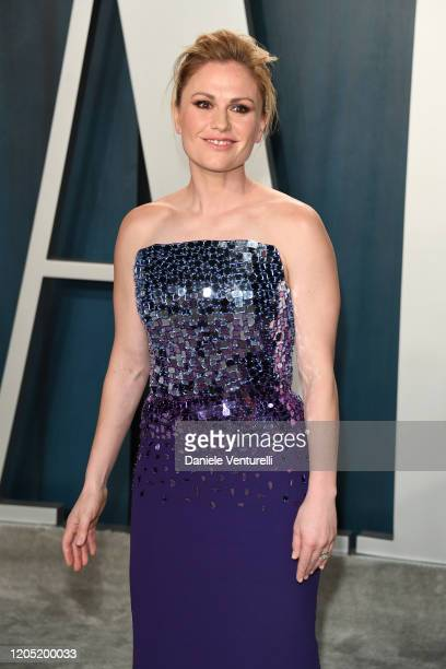 Anna Paquin attends the 2020 Vanity Fair Oscar party hosted by Radhika Jones at Wallis Annenberg Center for the Performing Arts on February 09 2020...