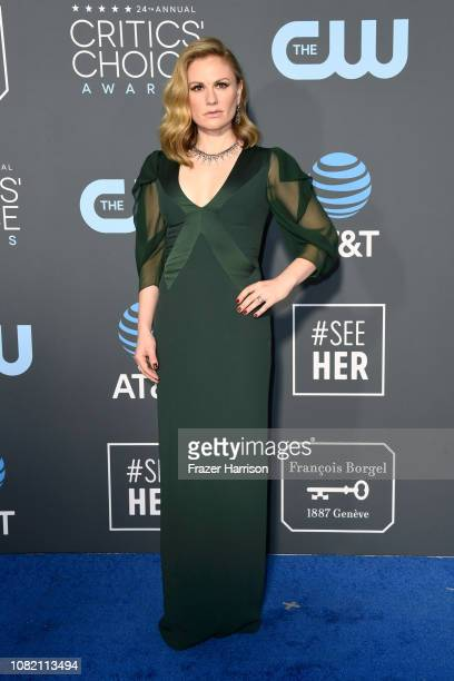Anna Paquin attends the 24th annual Critics' Choice Awards at Barker Hangar on January 13 2019 in Santa Monica California
