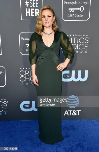 Anna Paquin attends the 24th Annual Critics' Choice Awards at Barker Hangar on January 13 2019 in Santa Monica California