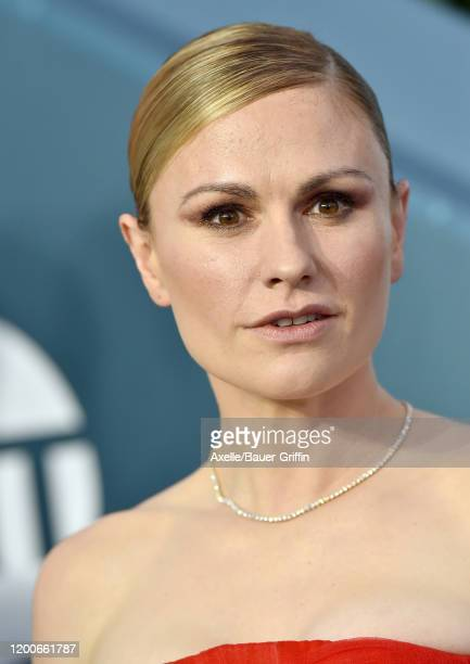 Anna Paquin attends the 26th Annual Screen Actors Guild Awards at The Shrine Auditorium on January 19 2020 in Los Angeles California