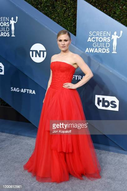 Anna Paquin attends the 26th Annual Screen ActorsGuild Awards at The Shrine Auditorium on January 19 2020 in Los Angeles California