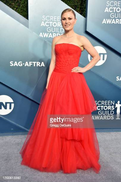 Anna Paquin attends the 26th Annual Screen ActorsGuild Awards at The Shrine Auditorium on January 19 2020 in Los Angeles California 721430