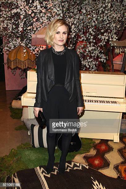 Anna Paquin attends the alice olivia By Stacey Bendet And Neiman Marcus Present SeeNowBuyNow Runway Show at NeueHouse Los Angeles on April 13 2016 in...