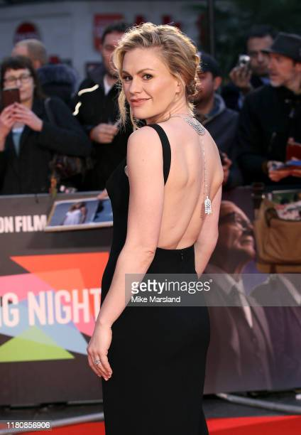 Anna Paquin attends The Irishman International Premiere and Closing Gala during the 63rd BFI London Film Festival at the Odeon Luxe Leicester Square...