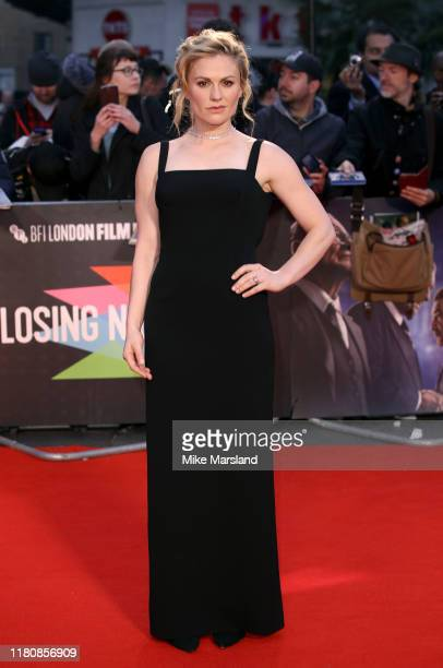 "Anna Paquin attends ""The Irishman"" International Premiere and Closing Gala during the 63rd BFI London Film Festival at the Odeon Luxe Leicester..."