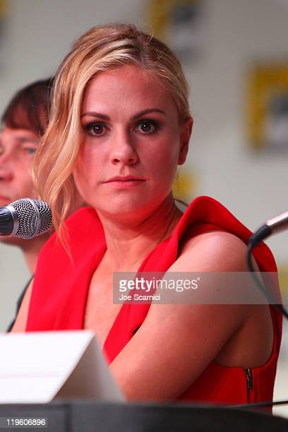 Anna Paquin attends the True Blood panel at 2011 ComicCon International Day 2 at San Diego Convention Center on July 22 2011 in San Diego California