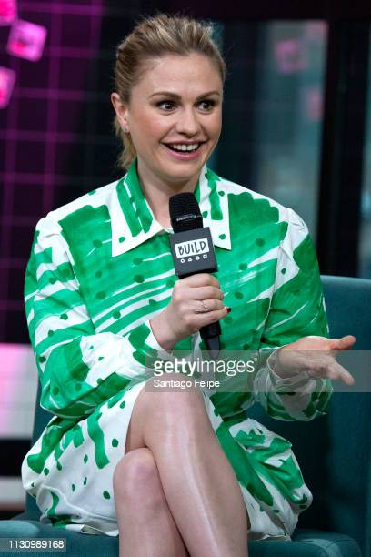 Anna Paquin visits Build Studio on February 20 2019 in New York City