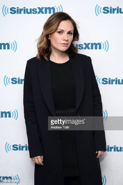 Anna Paquin visits SiriusXM at SiriusXM Studios on January 18 2018 in New York City