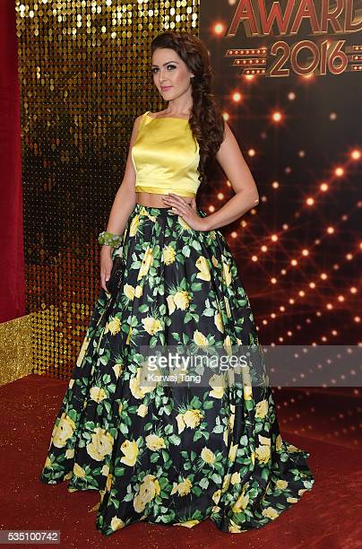 Anna Passey arrives for the British Soap Awards 2016 at the Hackney Town Hall Assembly Rooms on May 28 2016 in London England