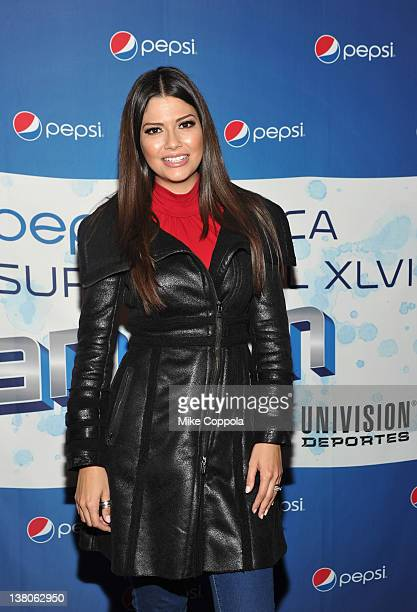Anna Patricia Gonzalez attends Univision Pepsi Musica Super Bowl Fan Jam at Indiana Convention Center on February 1 2012 in Indianapolis Indiana