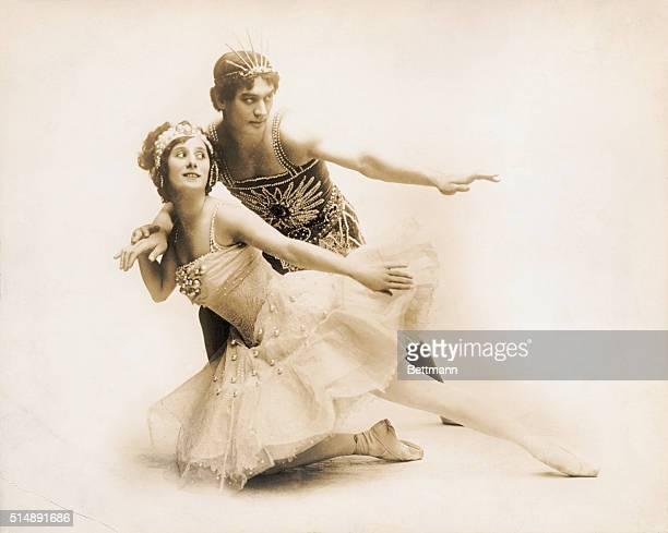 Anna Pavlova and Mikhail Mordkin Russian ballet dancers