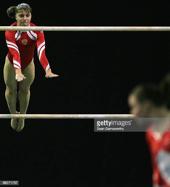 Anna Pavlova of Russia in action during the womens individual all round final of the 2005 World Gymnastics Championships at Rod Laver Arena November...