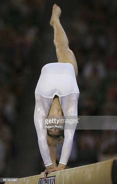 Anna Pavlova of Russia in action on the Beam during Womens Qualifying during day 2 of the 2005 World Gymnastics Championships at Rod Laver Arena...