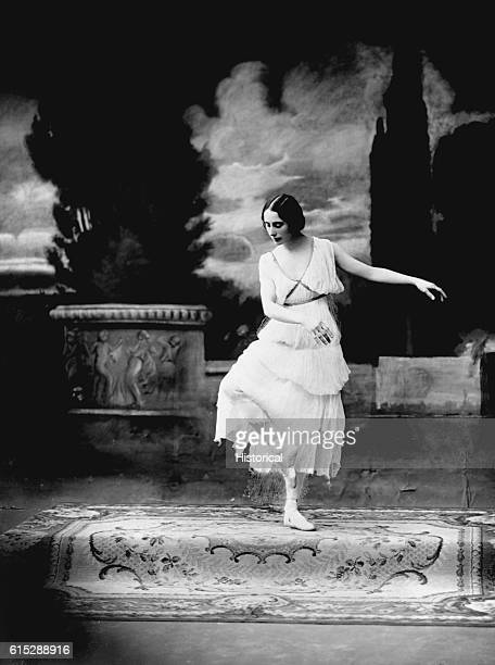 Anna Pavlova the Russian ballerina most renowned for her solo performance in Michel Fokine's Dying Swan