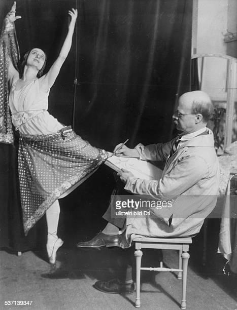 Anna PavlovaAnna Pawlowa Ballettänzerin Tänzerin Russland steht dem Maler Kinney in New York Modell 1925