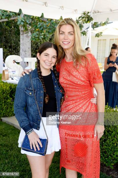 Anna Petrocelli and Alison Petrocelli attend the annual HEART Brunch featuring Stella McCartney on April 18 2017 in Los Angeles California