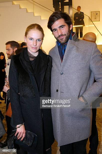 Anna Philippa Wolf and Archibald Pearson attend the 'New American Art' Exhibition of Artists Matthew Day Jackson and Rashid Johnson Opening Cocktail...