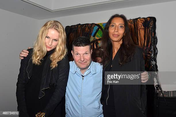 Anna Philippa Wolf Francis Van ListenborghÊand Larissa attend the Purple Thaddaeus Ropac Cocktail Party for Painter Bjarne Melgaard during Paris...