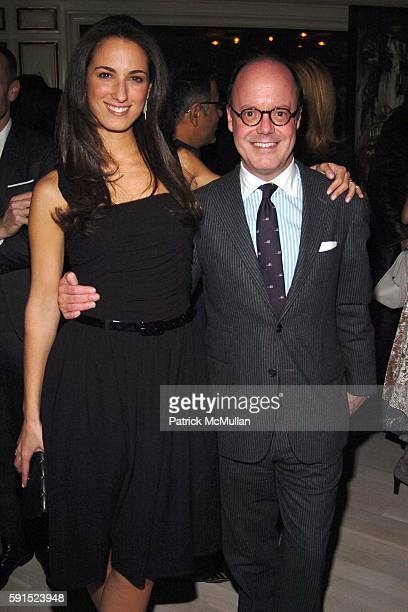 Anna Pinheiro and Robert Burke attend JIM GOLD of BERGDORF GOODMAN hosts a Dinner to Celebrate the Opening of their New Restaurant BG at BG on...