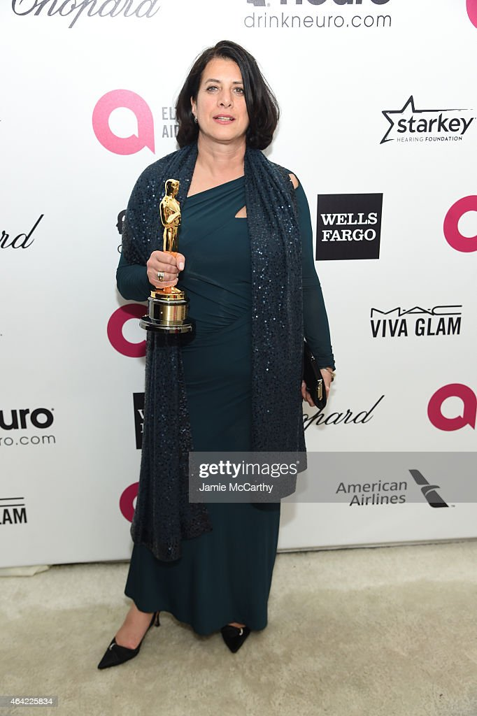 Anna Pinnock, Oscar winner for Best Production Design 'The Grand Budapest Hotel', attends the 23rd Annual Elton John AIDS Foundation Academy Awards Viewing Party on February 22, 2015 in Los Angeles, California.