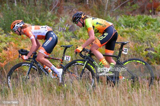 Anna Plichta of Poland and Boels Dolmans Cycling Team / Roxane Knetemann of Netherlands and Team Ale Cipollini / during the 4th Ladies Tour of Norway...