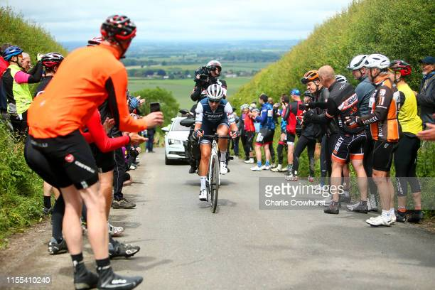 Anna Plichta of Poland and Team Trek - Segafredo / Britwell Hill / Public / Fans / during the 6th OVO Energy Women's Tour 2019 - Stage 3 a 145,1km...