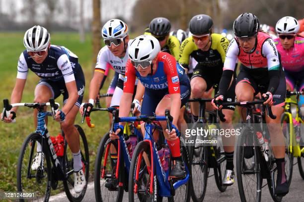 Anna Plichta of Poland and Team Trek- Segafredo / Lisa Brennauer of Germany and Ceratizit – Wnt Pro Cycling Team / Franziska Braube of Germany and...