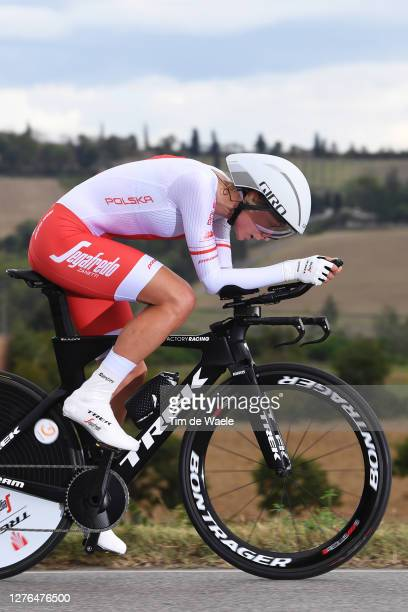 Anna Plichta of Poland / during the 93rd UCI Road World Championships 2020, Women Elite Individual Time Trial a 31,7km stage from Imola to Imola /...