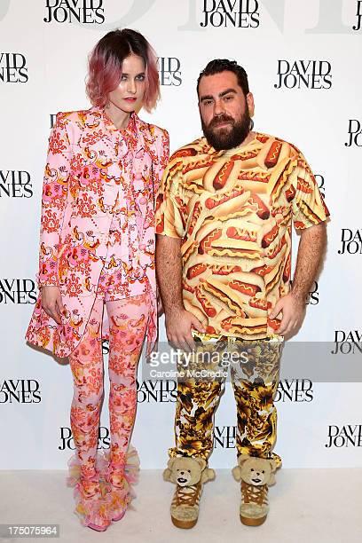 Anna Plunkett and Luke Sales arrive at the David Jones Spring/Summer 2013 Collection Launch at David Jones Elizabeth Street on July 31 2013 in Sydney...
