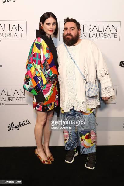Anna Plunkett and Luke Sales attend the 2018 Australian Fashion Laureate Awards on November 20 2018 in Sydney Australia