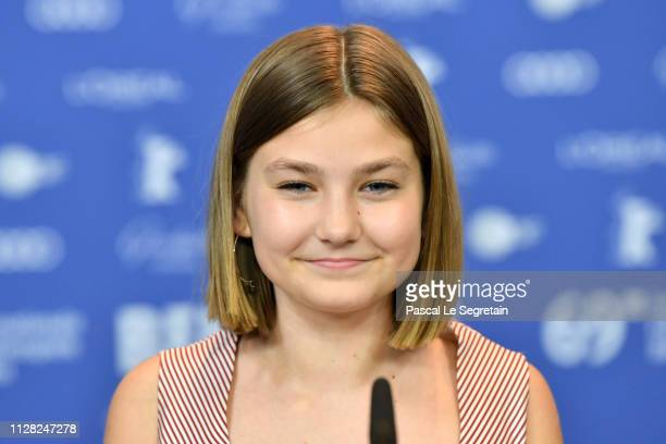 Anna Pniowsky attends the Light Of My Life press conference during the 69th Berlinale International Film Festival Berlin at Grand Hyatt Hotel on...
