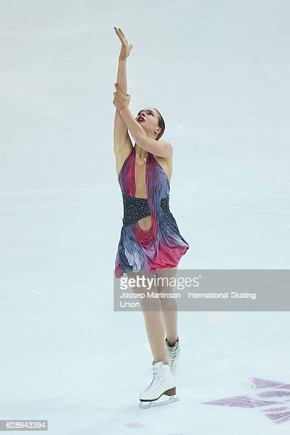 Anna Pogorilaya of Russia competes during Senior Ladies Free Skating on day three of the ISU Junior and Senior Grand Prix of Figure Skating Final at...