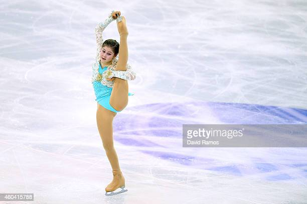 Anna Pogorilaya of Russia competes in Free Skating Final during day three of the ISU Grand Prix of Figure Skating Final 2014/2015 at Barcelona...