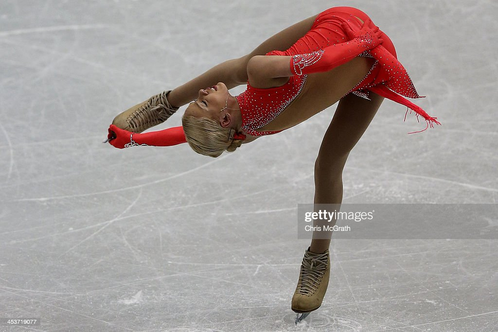 Anna Pogorilaya of Russia competes in the Ladies Short Program during day one of the ISU Grand Prix of Figure Skating Final 2013/2014 at Marine Messe Fukuoka on December 5, 2013 in Fukuoka, Japan.